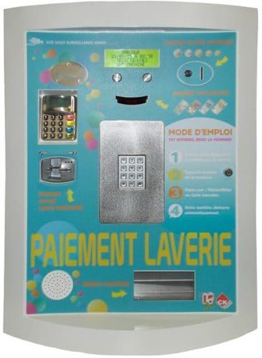 Façade de borne laverie automatique