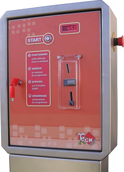 Pupitre un boutons station lavage
